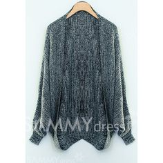 Thickened Metallic Loose-Fitting Cotton Blend Cardigan For Women