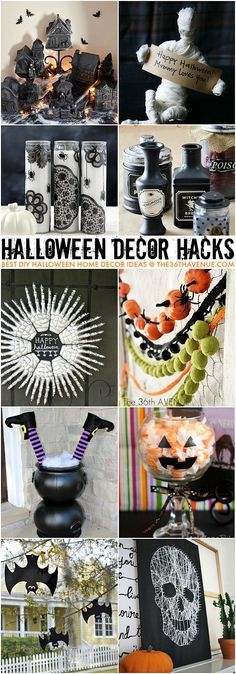 Halloween Decor Ideas and Hacks. The hanging bats are my favorite, they are going to look so cute out in the yard for Halloween. Spooky Halloween, Fröhliches Halloween, Adornos Halloween, Manualidades Halloween, Holidays Halloween, Halloween Treats, Halloween Makeup, Halloween Costumes, Hallowen Ideas