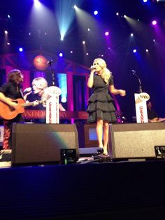 Carrie performing at The Grand Ole Opry August 10th 2013
