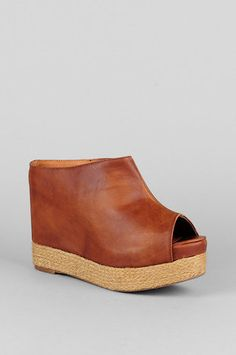 Jeffrey Campbell Virgo Peep Toe Wedges in Brown   $86 at www.tobi.com