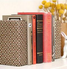 Decorate with paper, book holders