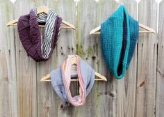 DIY Upcycled Sweater Cowl: reuse old sweaters and make them into useful cowl to keep you warm: DIY clothes refashion Old Sweater Diy, Sewing Hacks, Sewing Projects, Sewing Diy, Recycled Sweaters, Recycled Fashion, Diy Clothing, Clothes Refashion, Recycled Clothing