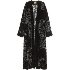 H&M Velvet Kimono $39.99 (130 BRL) ❤ liked on Polyvore featuring intimates, robes, h&m, kimono, h&m kimono, burnout kimono, long sleeve kimono, long kimono and h&m robe