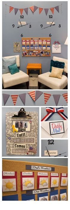 "Check out these ideas for creating a ""Deployment Wall"" and including fun, lighthearted activities to get through deployment!"