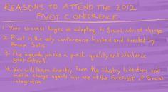 #pivotcon #draw  4 reasons to attend