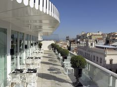 The terrace at Altis Avenida Hotel Lisbon with it's 7 hills makes for wonderful view & vistas Affordable Hotels, Travel Pictures, Travel Pics, Week End, Vacation Trips, Places To Travel, Around The Worlds, Europe, Tours