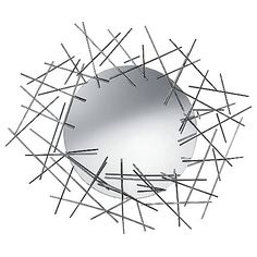 """The Blow Up Mirror, by Alessi, a Campana Brothers design, is a delightful approach to """"mirror, mirror on the wall"""" by fusing pandemonium with order. Crafted of 18/80 mirror-polished stainless steel, each hand-welded Blow Up Mirror is unique."""
