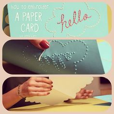 How to Embroider Paper.
