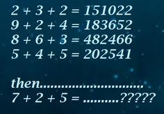 Which number replaces the question mark ? Brain Teasers With Answers, College School, Maths Puzzles, Mind Games, Question Mark, Your Brain, Algebra, Equation, Mindfulness