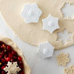 Williams-Sonoma Snowflake Pie Crust Cutters, Set of 3 #williamssonoma