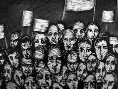 Xilografía, La protesta.