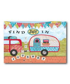 This \'Find Joy\' Wrapped Canvas by COURTSIDE MARKET is perfect! #zulilyfinds