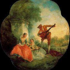"""La leçon de musique"", Nicolas Lancret, 1743"