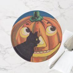 #Vintage Halloween cat pumpkin party cake stand - #Halloween happy halloween #festival #party #holiday