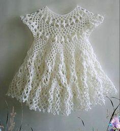 Crochet baby dress tutorial