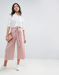 Culotte Pants for Women – ChoosMeinStyle Summer Fashion Outfits, Spring Outfits, Casual Outfits, Cute Outfits, Fasion, Culotte Style, Culotte Pants, Fashion Mode, Look Fashion