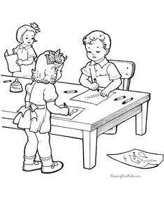 Playing kids enjoying life , embroidery