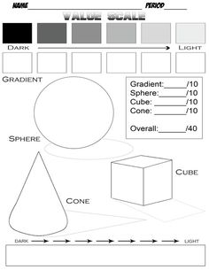 Digication e-Portfolio :: Fairfield Art :: Value Scale Worksheet