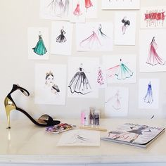 I'm thinking about teaching a fashion illustration workshop with The Unique Space in DTLA. Just want to put a little feeler out to see if this is something you would be interested in! I think it would be a fun way to meet people + make pretty things on paper.