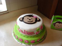 Image detail for -Pink Mod Monkey Birthday Cake — Childrens Birthday Cakes