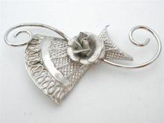 Vintage Sterling Silver Flower Brooch Handmade Estate Pin Signed Inc Jewelry | eBay