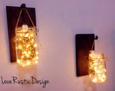 Rustic Home Decor Home & Living Set of 2 Hanging by AllThatsRustic