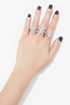 Such A Snowflake Ring Set at Nasty Gal