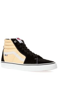 The SK8 Hi Pro Sneaker in Black and Checkers - By Vans - http   2c86cbfff
