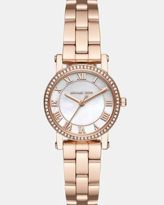 Michael Kors Petite Norie - Women Wrist Watch on YOOX. The best online selection of Wrist Watches Michael Kors. YOOX exclusive items of Italian and international designers - Secure payments Michael Kors Jewelry, Michael Kors Gold, Michael Kors Watch, A New York Minute, Hand Watch, Casual Watches, Mode Inspiration, Stainless Steel Bracelet, Bracelet Watch