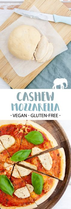 Cashew Mozzarella - vegan and gluten-free - made with only 7 ingredients! | ElephantasticVegan.com #vegan #glutenfree #cheese #cashew #mozzarella via @elephantasticv