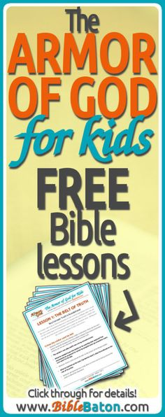 Get 6 free printable lesson outlines for teaching kids the Armor of God! Bible Study Guide, Bible Study For Kids, Bible Lessons For Kids, Kids Bible, Preschool Lessons, Armor Of God Lesson, Bible Activities, Learning Activities, Character Activities