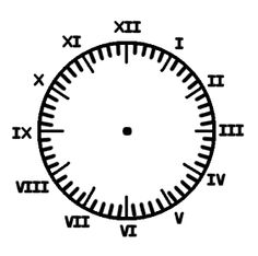 Printable Clock Face Selection,Free Printable Clock Face blank to Roman Numerals