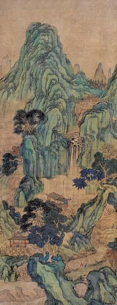 Chinese traditional painting, ink painting, landscape painting