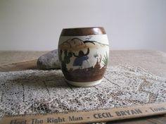 Vintage Mexico Tonala Handcrafted Mug-Folk Art by Reshopgoods