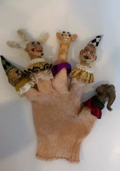 Katherine's Collection Harlequin Clowns Hand Puppet #KatherinesCollection