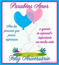 Amor Te Amo Muito Parabéns Pelo Seu Dia Feliz Aniversário