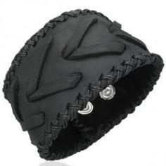 Pulseras de cuero, brazaletes de cuero, pulseras anchas de cuero para hombre y mujer (2) - SilverCode