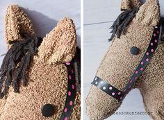 Steckenpferd, Steckenpferd selbstgemacht, DIY Steckenpferd, Kinderspielzeug, Pferdekopf aus Handtuch basteln, Steckenpferd aus Handtuch basteln, Steckenpferd basteln, Spielzeug Steckenpferd, Steckenpferd selbst basteln