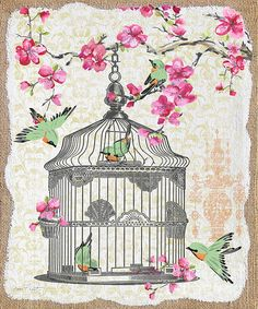 I uploaded new artwork to plout-gallery.artistwebsites.com! - 'Birdcage With Cherry Blossoms-jp2613' - http://plout-gallery.artistwebsites.com/featured/birdcage-with-cherry-blossoms-jp2613-jean-plout.html