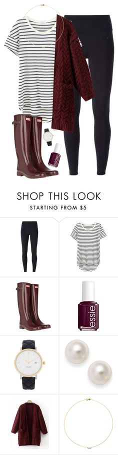 """{Look What I Found}"" by star-lit-fashion ❤ liked on Polyvore featuring NIKE, Splendid, Hunter, Essie, Kate Spade and Sole Society"