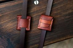 Leather SD Memory Card Holder Case by natemadegoods on Etsy