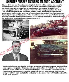Buford and Pauline Pusser Ambushed Ford Police, Police Cars, Police Vehicles, Semi Automatic Rifle, Walking Tall, Racing Stripes, Sheriff, True Stories, Childhood Memories