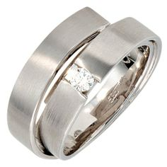Damen-Ring teilmattiert 14 Karat (585) Weißgold 1 Diamant 0.12 ct. 58 (18.5) Dreambase, http://www.amazon.de/dp/B00AEEE9X6/ref=cm_sw_r_pi_dp_F4njtb0MJPGTG