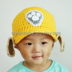 Rubble Hat PAW Patrol Hat Crochet Baby Hat by stylishbabyhats