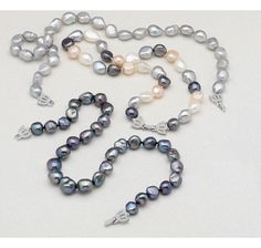 11-14mm Fresh Water Pearl Necklace with Lotus Flower Clasp