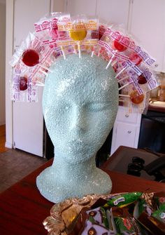 lollipop head, from brasspaperclip  Seriously thought of this for my lollipop booth at the fair