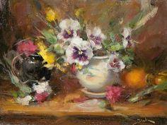 Pansies by Dan Beck Oil ~ 9 x 12