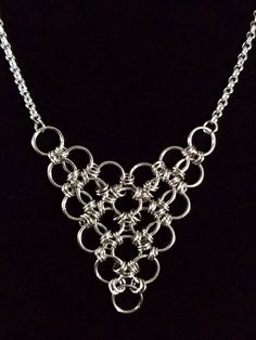 $54 Japanese Style Chainmaille Necklace made by the Gipsy Fire Jewelry Co