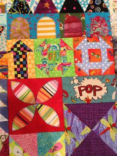 """This is the finish of the pattern """"My Small World"""" by Jen Kingwell. Her pattern is divided into 6 parts. My goal was to finish the quilt top..."""