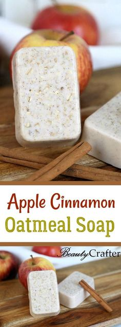 Apple Cinnamon Oatmeal Soap Recipe DIY , easy fall craft that is great for gifting!